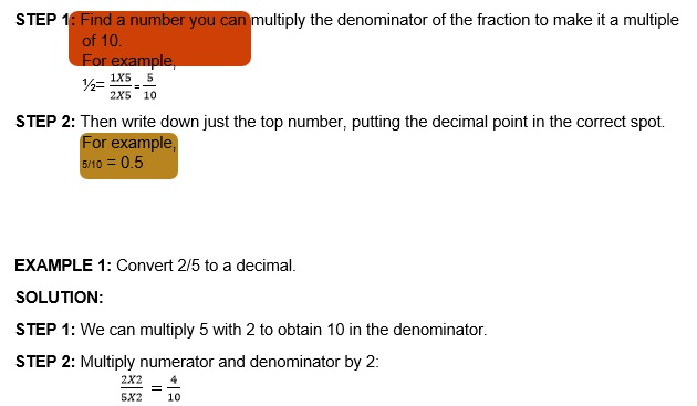Maths class 5 Decimals