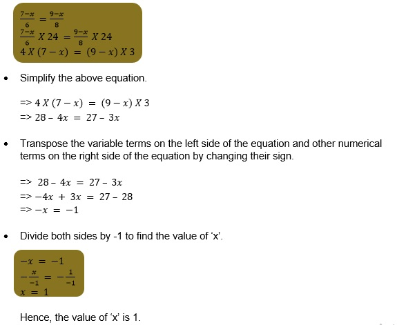 Maths class 8 Linear equations and variables