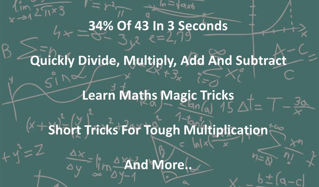 Math Tricks - Learn Speedy Math Tricks for Faster Calculations