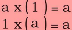 Definition of multiplicative identity